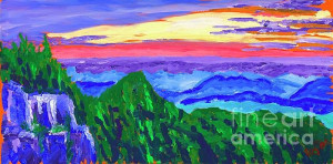 Here for a larger image. I am from North Carolina and I love the Blue Ridge Pkwy. If you have never been on the Pkwy put is on your bucket list so you can see more views like these. If you are interested in this painting click here.